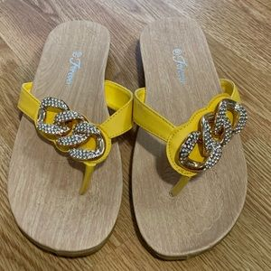 Yellow Brand New Forever Sandals